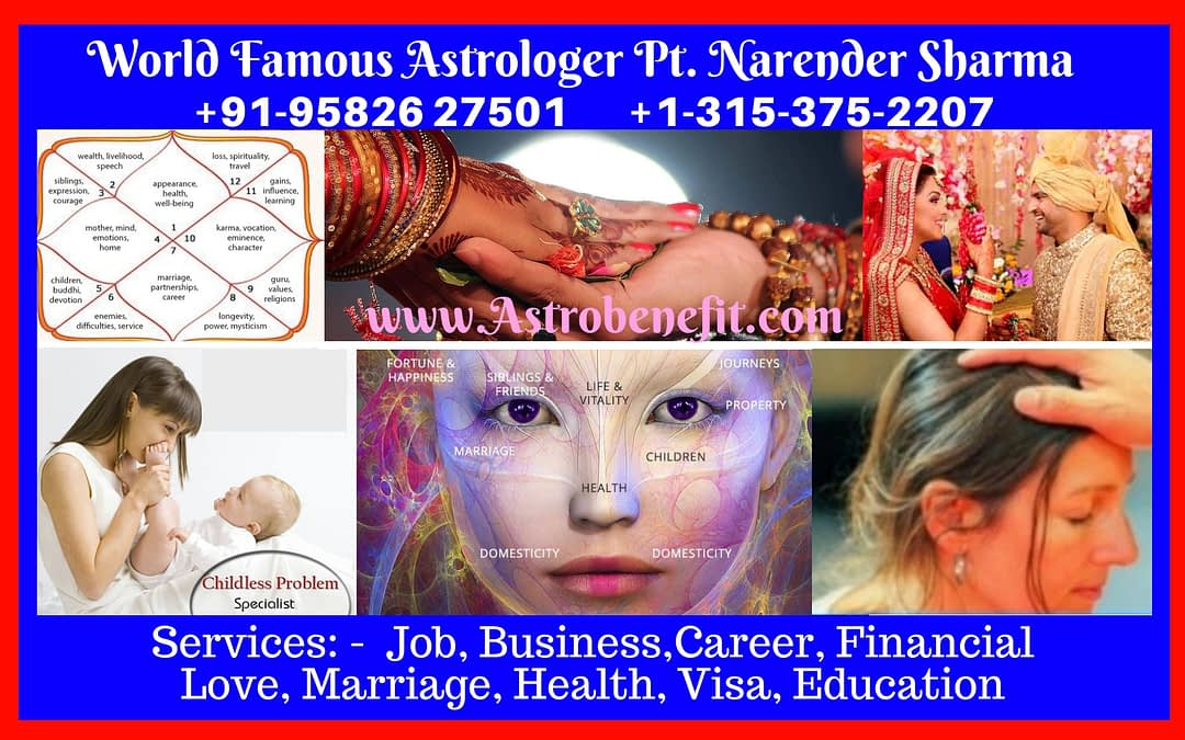 Best Psychic/Astrologer in Chicago +1 315-375-2207 Pt.N K Sharma
