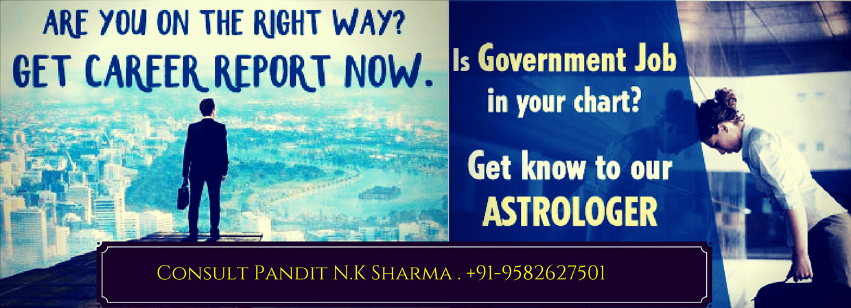 Career Counselling Specialist Astrologer Worldwide Pandit N K Sharma +91-9582627501